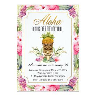 Tropical Tiki Birthday Luau Invitation