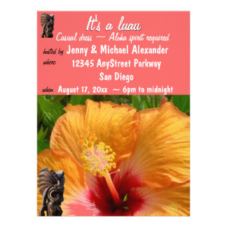 Tropical Tiki Luau Party Invitation