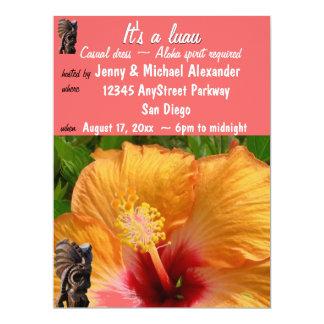 Tropical Tiki Luau Party 6.5x8.75 Paper Invitation Card