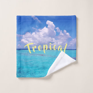 Tropical Tobago Caribbean Wash Cloth