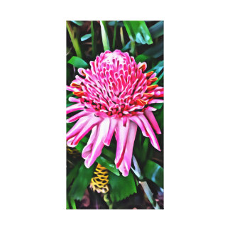 Tropical Torch Ginger Canvas Canvas Print