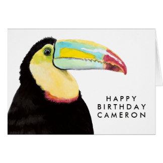 Tropical Toucan Bird Card