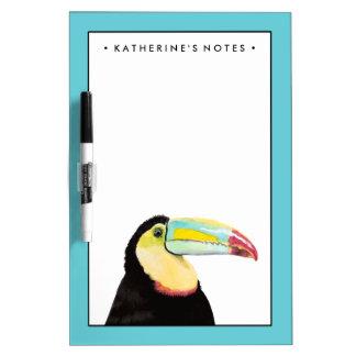Tropical Toucan Bird Dry-Erase Whiteboard