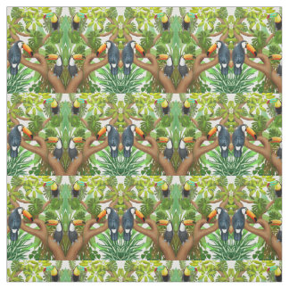 Tropical Toucan Birds Fabric