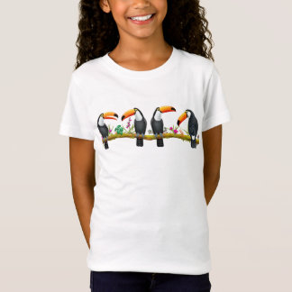 Tropical Toucan Birds Kids Jersey Knit T-Shirt