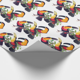 Tropical Toucan Birds Wildlife Wrapping Paper