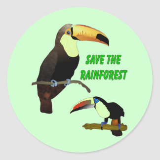 Tropical Toucan Classic Round Sticker