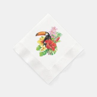 Tropical Toucan Coined Cocktail Paper Napkins