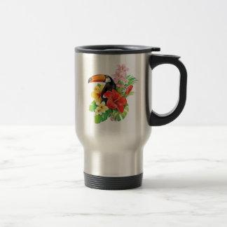 Tropical Toucan Collage Travel Mug
