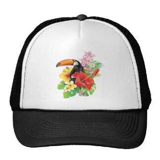 Tropical Toucan Collage Trucker Hat