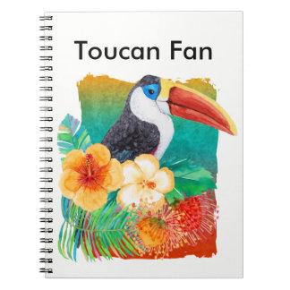 Tropical Toucan Fan Watercolor Notebooks