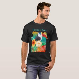 Tropical Toucan Fan Watercolor T-Shirt