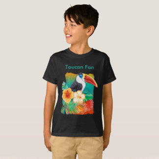Tropical Toucan Fan Watercolor T-Shirt