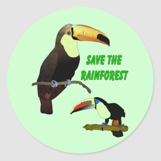 Tropical Toucan Round Sticker