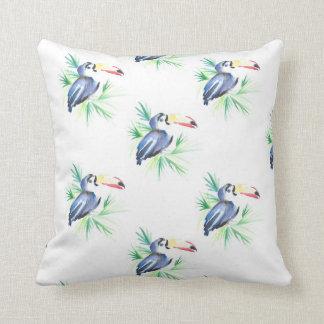 Tropical Toucan Summer Cushion