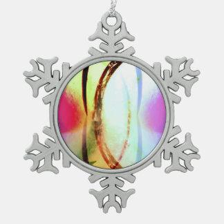 Tropical Tourmaline Snowflake Pewter Christmas Ornament