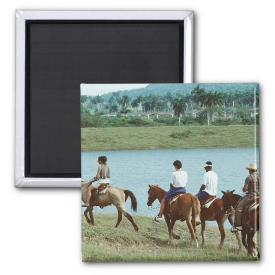 Tropical Trail Ride Square Magnet