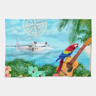 Tropical Travels Tea Towel