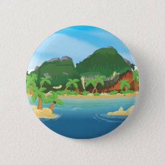Tropical Treasure Island 6 Cm Round Badge