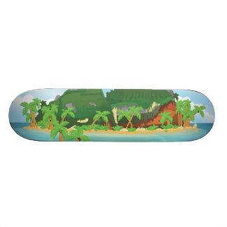 Tropical Treasure Island 21.3 Cm Mini Skateboard Deck