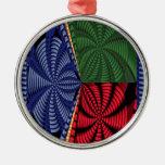 TROPICAL Tree Art Spiral Blink Vacation Trip FUN Christmas Ornaments
