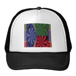 TROPICAL Tree Art Spiral Blink Vacation Trip FUN Trucker Hat