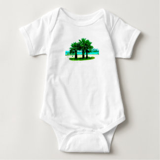 Tropical Tree Trio Baby Bodysuit