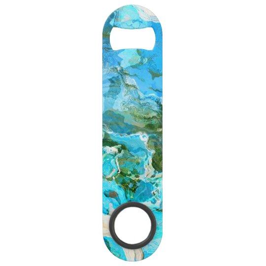 Tropical Turquoise Ocean Blue & Seaweed Green