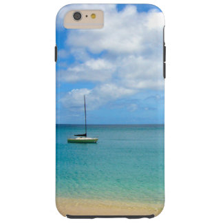 Tropical Turquoise Water with Yacht Tough iPhone 6 Plus Case