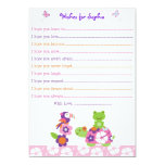 Tropical Turtle Frog Wishes for Baby Card 13 Cm X 18 Cm Invitation Card