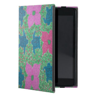 Tropical Turtles and Flowers iPad Case