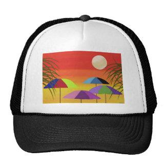 Tropical Umbrella Sunset Cap