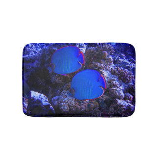 Tropical Undersea Fish Swimming In Coral Bath Mat