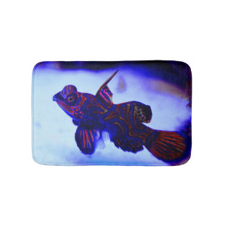 Tropical Underwater Fish With Glowing Colors Bath Mat