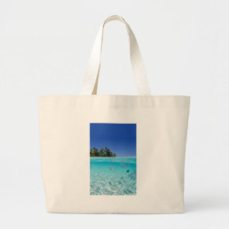 Tropical Underwater Large Tote Bag