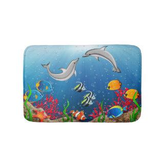 Tropical Underwater World Bath Mats