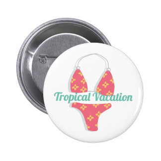 Tropical Vacation 6 Cm Round Badge