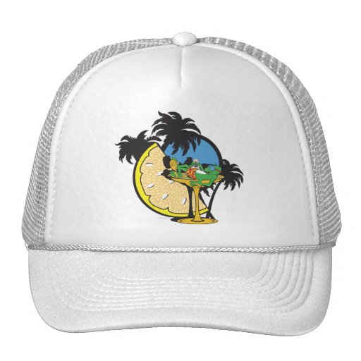 Tropical Vacation Gecko Hat
