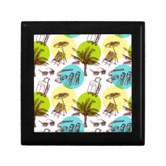 Tropical vacation trinket box