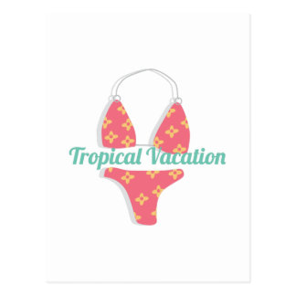 Tropical Vacation Postcard