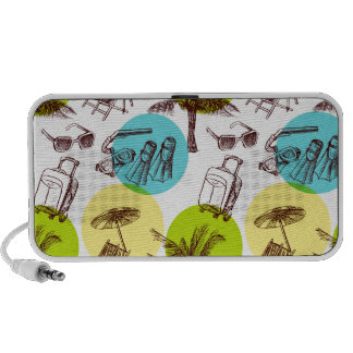 Tropical vacation mini speakers