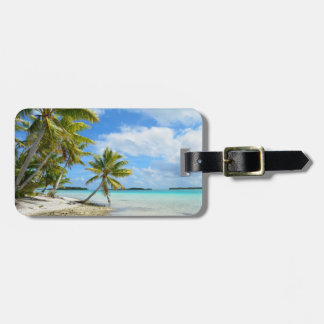 Tropical vacation travel luggage tag