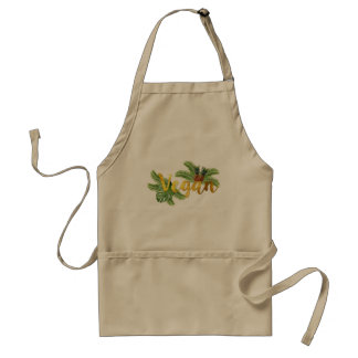 Tropical Vegan with Pineapples Apron