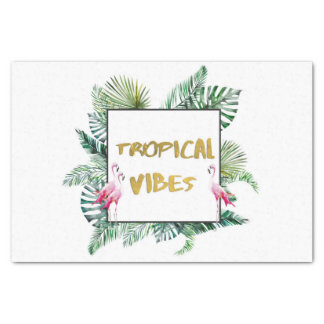 Tropical vibes tissue paper