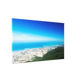 Tropical View   Atlantic Ocean   Puerto Plata Canvas Print