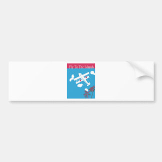 Tropical Vintage Air Travel Bumper Sticker