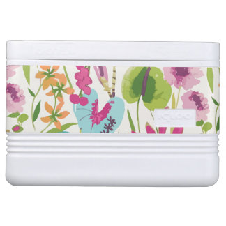 Tropical Vintage Floral Pattern Igloo Cool Box