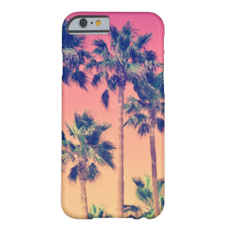 Tropical Vintage Palms Girly Barely There iPhone 6 Case