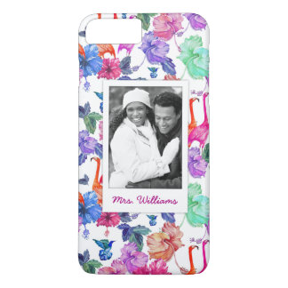 Tropical Watercolor | Add Your Photo & Name iPhone 8 Plus/7 Plus Case