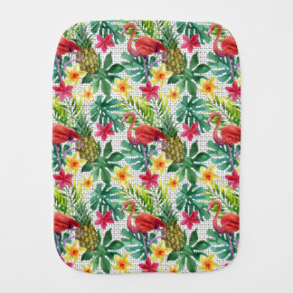 Tropical Watercolor Baby Burp Cloths